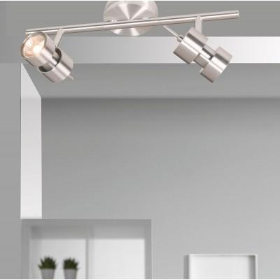 Steinhauer Natasja Staal Plafondlamp 2-lichts 5782ST
