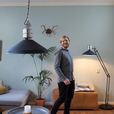 Steinhauer zappa series Zwart Hanglamp 1-lichts 7700ZW