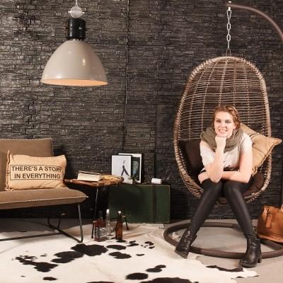 Steinhauer frisk Grijs Hanglamp 1-lichts 7696GR