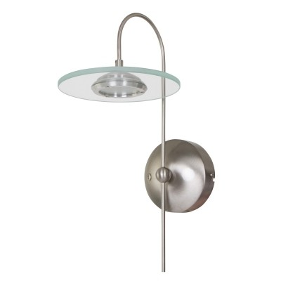 Steinhauer Roundy LED Staal Wandlamp 1-lichts 7707ST