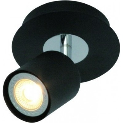 Freelight Scoop Zwart Spot,Plafondlamp 24cm PL7401Z