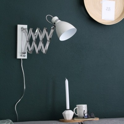 Steinhauer Spring Wit Wandlamp 1-lichts 6290W
