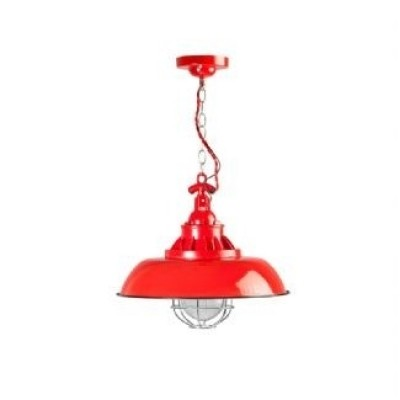 Consenza emaille hanglamp 05-hl4228-32 Rood