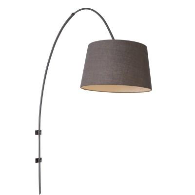 Steinhauer Gramineus Staal Wandlamp Booglamp met Kap 1-lichts 9944ST