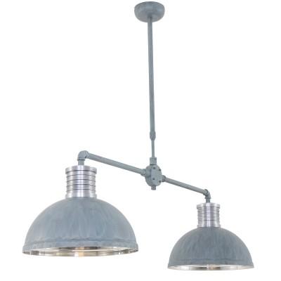 Steinhauer Brooklyn Grijs Hanglamp 2-lichts 7671GR