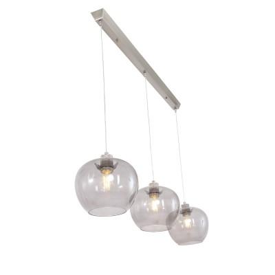 Steinhauer Lotus Staal Hanglamp 3-lichts 1330ST