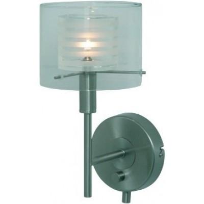 Freelight Chivallo Staal,Wit,Helder Wandlamp 15cm W4751S