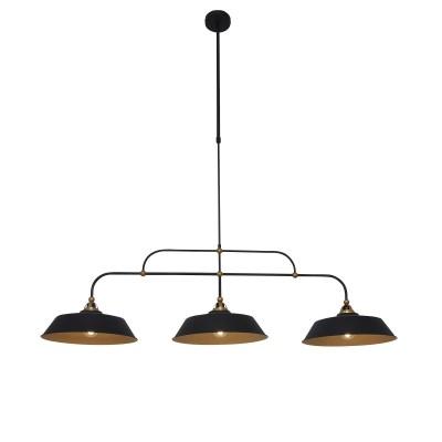 Steinhauer Mexlite Zwart Hanglamp 3-lichts 1319ZW
