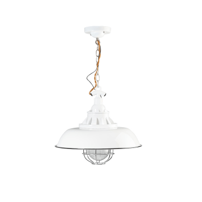 Consenza emaille hanglamp 05-HL4228-31 wit