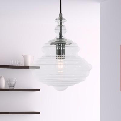 Steinhauer Transmir Transparant Hanglamp 1-lichts 7626CH