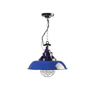 Consenza emaille hanglamp 05-hl4228-35 blauw
