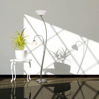 Steinhauer Capri Staal Vloerlamp 2-lichts 6838ST