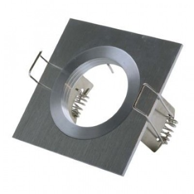 Inbouwarmatuur vierkant geborsteld aluminium 148-001