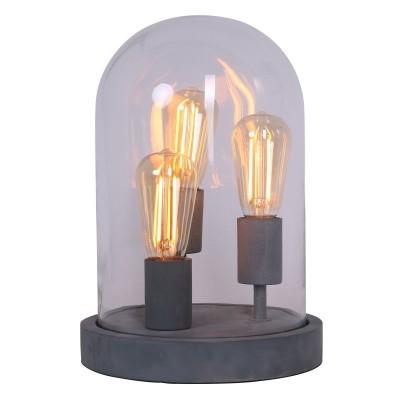 Steinhauer Mexlite Grijs Tafellamp 3-lichts 1484GR