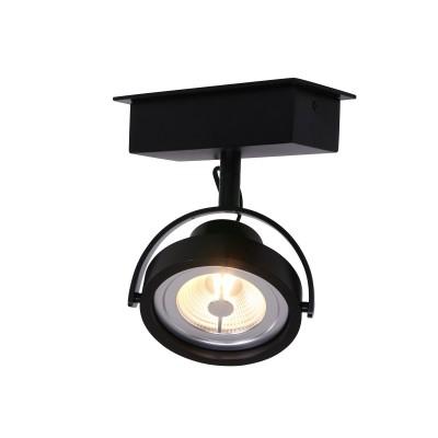 Steinhauer Mexlite Zwart Spot 1-lichts 1450ZW