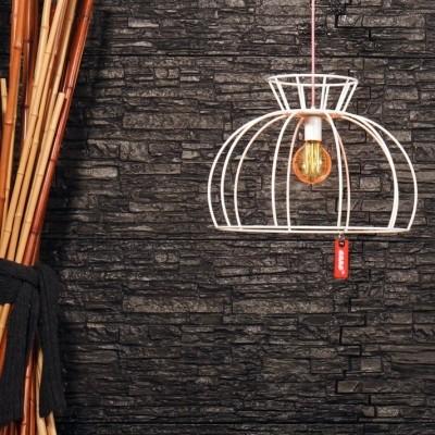 Steinhauer Crinoline Wit Hanglamp 1-lichts 7706W