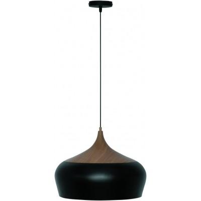 Freelight Quericia Zwart,Hout Hanglamp 35cm H3310Z