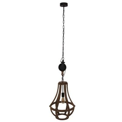Steinhauer liberty bell Bruin Hanglamp 1-lichts 1349BE