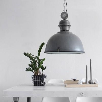 Steinhauer Bikkel Grijs Hanglamp 1-lichts 7586GR