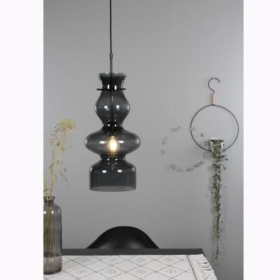 Steinhauer Chalise day & night Zwart Hanglamp 1-lichts 1454ZW
