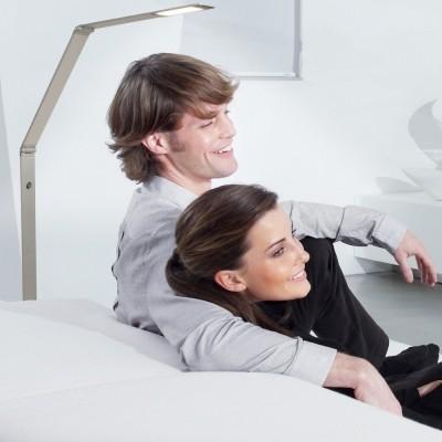 Steinhauer Serenade LED Staal Vloerlamp 1-lichts 7460ST