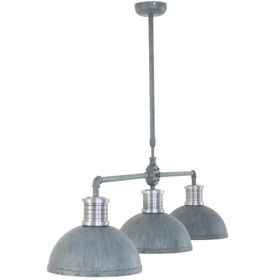 Steinhauer Brooklyn Grijs Hanglamp 3-lichts 7672GR