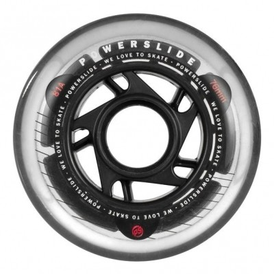 Foto van Powerslide Wheels CONQUEST 76mm/81a 8-Pack incl. Abec5 + Spacer