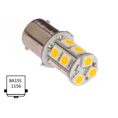 Ba15S-warm wit (13xLED) 20W 2.0W Ba15S