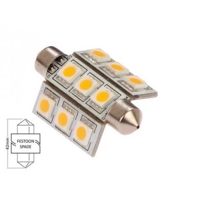 Buislamp-warm wit (9xLED) 15W 2.0W 10-30 42 x 16mm