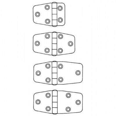 SCHARNIER RVS 54,5X38,5X2 MM