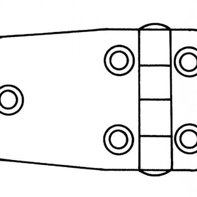 SCHARNIER RVS 63,5X38,5X2 MM