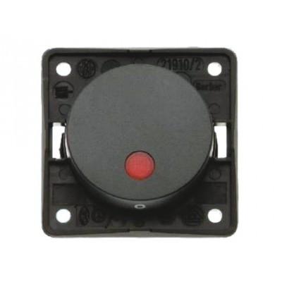 Berker 2-polige schakelaar aan/uit met 12V controlelamp bruin