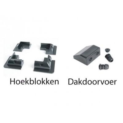 Foto van Hoekblokken zwart t.b.v. zonnepaneel (set van 4)