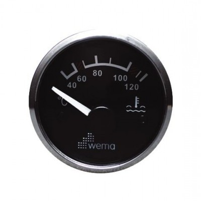 SILVER GAUGE, ZWART WATER TEMP.