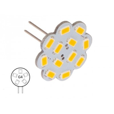 G4-warm wit (9xLED) 20W 1.8W achter-insteek lang