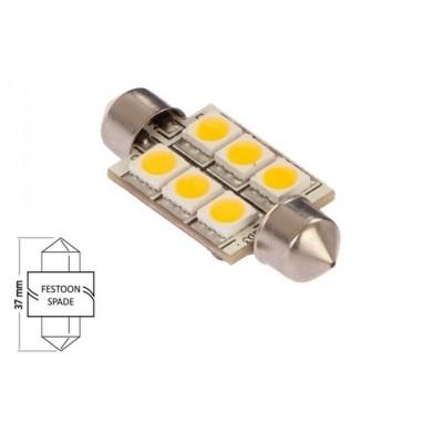 Buislamp-warm wit (6xLED) 10W 1.2W 42 x 16mm