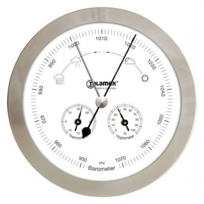 BARO/THERMO/HYGROMETER RVS 160MM