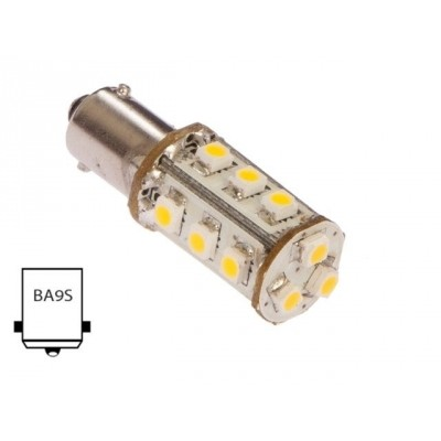 Ba9s-warm wit (15xLED)