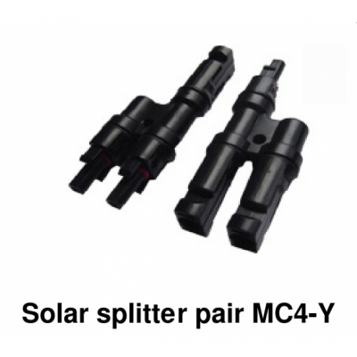 Foto van Solarconnector MC4-Y, 1x Male/1x Female