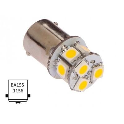 Ba15D-warm wit (9xLED) 10W 1.0W Ba15D
