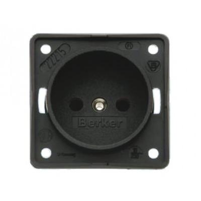 Berker wandcontactdoos 230V zonder randaarde bruin