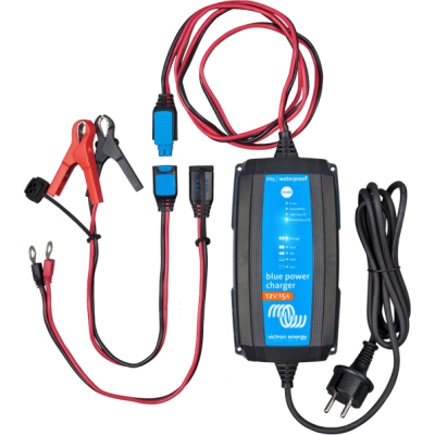 Foto van Victron Blue Power acculader 12/15 IP65 met DC connector