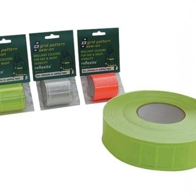 REFLEXITE GRID LIME GREEN 50MMX1M