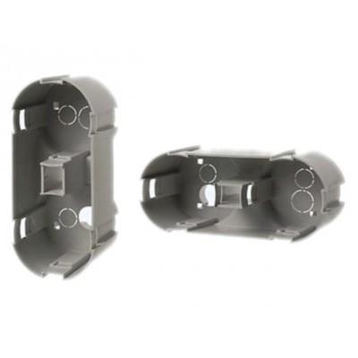 Berker inbouwdoos verticale montage 2- voudig Afmeting: diep 45, diam.45mm grijs