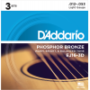 Afbeelding van DAddario EJ16 3Pack Phosphor Bronze light 012-053