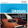 Afbeelding van DAddario EFT16 Flat Tops Phosphor Bronze Light 012-053