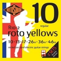Foto van Rotosound R10-2 Roto Yellows 010-046 regular 2-pack