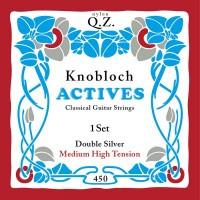 Foto van Knobloch 450KAQ Double Silver QZ snarenset klassiek Medium High Tension