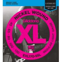 Foto van DAddario EXL170-5SL 45-65-80-100-130 Super Long Scale Roundwound