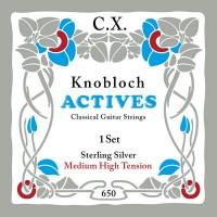 Foto van Knobloch 650KAS Sterling Silver CX Carbon snarenset klassiek Medium High Tension